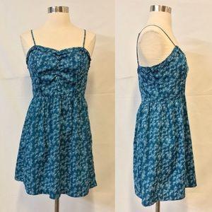 UO Cooperative Blue Printed Mini Dress Size Small